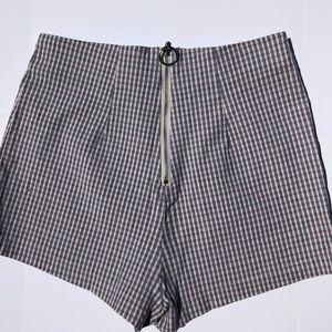 Plaid work shorts